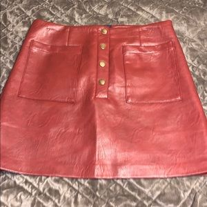 Forever21 Brown/Red Leather Skirt